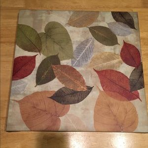 Fall colored leaves on Canvas